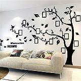 Árbol Pegatinas de Pared - 3D Árbol Marco de Fotos DIY Etiqueta Murales Decoración para Salón,...