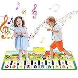 AEVEA Tapete de Piano, Alfombra de Baile de 19 Teclas para Niños, Teclado Musical, Juguetes Educativos Plug and Play, 100x36cm Tapete Musical de Animales