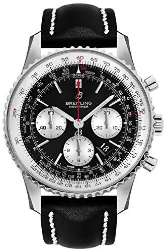 Breitling Navitimer AB0127211B1X1 Montre Homme Chronographe Acier 46 sur Bracelet Cuir Noir