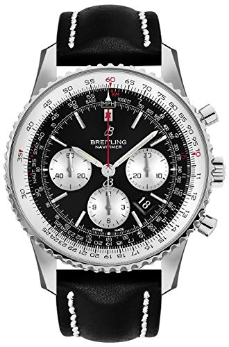 Breitling Watches Breitling Navitimer 1 B01 Chronograph 46 Steel Men's Watch on Black Leather