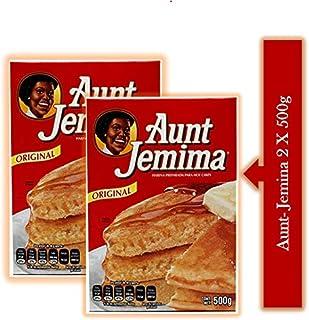 PAQUETE Aunt Jemina, Harina Hot Cakes 2 cajas de 500g c/u.