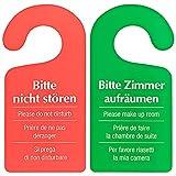 50 Stück Türschild Hotel Bitte nicht stören - Zimmer aufräumen rot / grün
