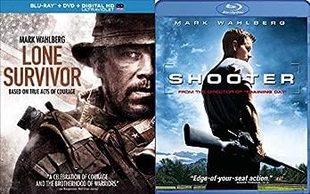 Marky Mark Getting Down To Business: Shooter (Blu-Ray) + Lone Survivor (Blu-Ray/ DVD/ Digital HD) Wahlberg Bundle
