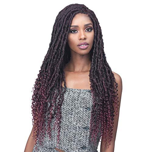 Bobbi Boss Lace Front Wig Faux Locs Curly MLF519 Zala (T1B/BUG)