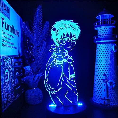 Lámpara de ilusión 3d noche luz LED anime disastrous vida 7 discolor niños habitación escritorio escritorio niño niña niña