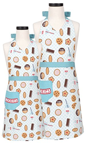 Pino o cocina madre y hija 'leche y galletas' delantal Set de regalo
