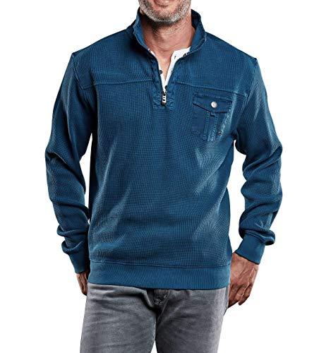 engbers Herren Sweatshirt Stehbund, 28156, Türkis in Größe 3XL