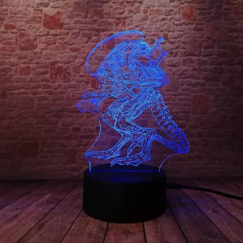 Außerirdisches Monster Nachtlicht Led Kinder Nachtlicht 3D Optische Täuschung 7 Farben Ändern Beleuchtung Lampe Geburtstag Weihnachten Erstaunliche Geschenke Für Baby Kinder Mädchen