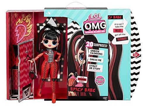 LOL Surprise OMG Serie 4 Muñeca de Moda Spicy Babe Descubre 20 Sorpresas Cautivadora, Glamorosa y a la Moda Para Niños a Partir de 4 Años. Incluye Vestidos, Accesorios y Más