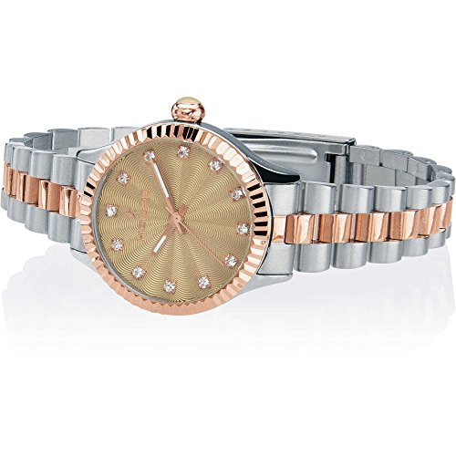 Orologio Donna Luxury Diamonds Silver & Gold Beige 2569LSRG-04 - Hoops