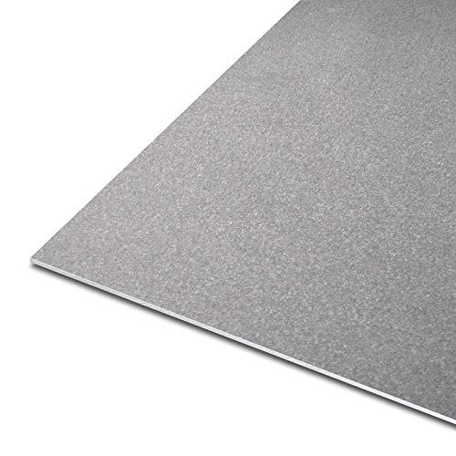 thyssenkrupp Blech aus Stahl | DC01-A | 1.0330 | kaltgewalzt | gefettet || Stärke: 2 mm | Maße: 250 x 300 mm