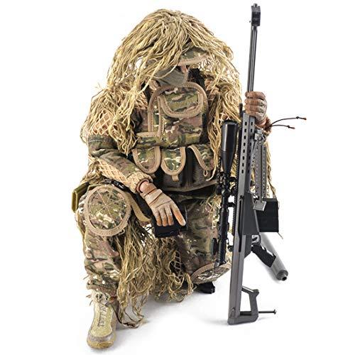 Mecotecn 1/6 Figuras Soldados, 12 Figura de Acción con Arma, Figuras Militares Conjuntos de Juegos - Francotiradores Todo Terreno