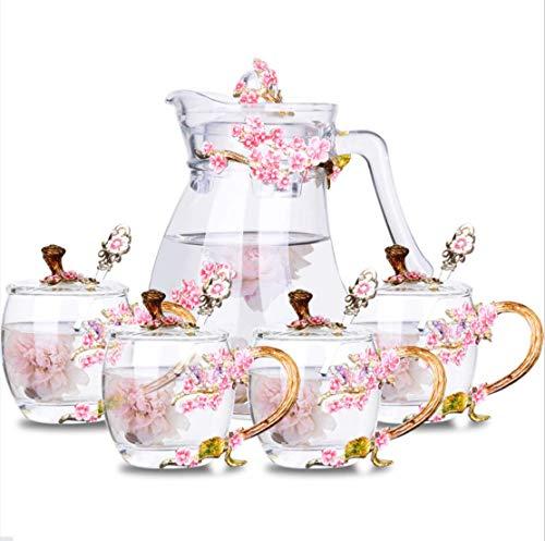 Luxury flower teacups set