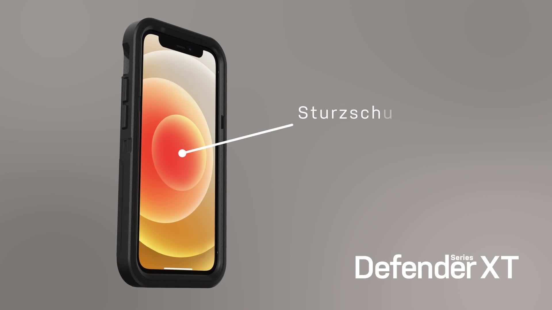 Otterbox Defender Xt Robuster Schutz Mit Magsafe Für Iphone 12 Mini Schwarz Elektronik