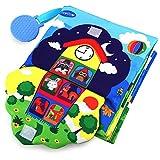 Teytoy - Libro de tela para bebés (3D, con cremallera, botón, hebilla)
