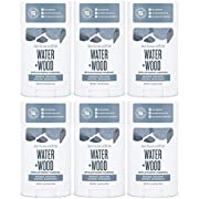 Schmidt's Natural Deodorant, Water + Woods with Activated Charcoal, 2.65 oz (6 Pack)