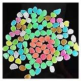Piedras Luminosas 100 Unids Resplandor De Piedra Que Brilla Intensamente En Los Guijarros Oscuros Decoración Al Aire Libre Tanque De Peces Grava Rocas Decoración (Color : White)