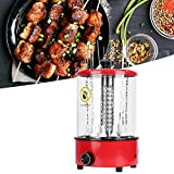 TOPINCN Electric Barbecue Grill, Portable Vertical BBQ Grill Rotisserie Oven Multifunctional BBQ Machine Kitchen Appliances for Shish Kebab Shawarma Tacos Vegetables Hot Dogs(110V)
