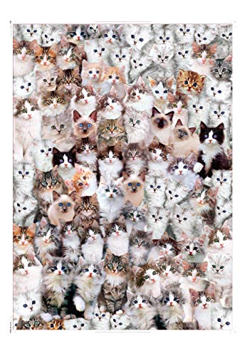 EACHHAHA Puzzle 1000 Teile,Erwachsene Puzzle Katze,Puzzle Casual Game,70 x 50 cm/27.5x19.7in,Katze