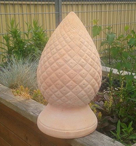 Pinienzapfen ca.40 cm hoch, echt Terracotta Terrakotta Garten Deko Blüte Zapfen