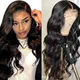 Lace Front Wigs Human Hair for Black Women 150% Density 9A Brazilian 13×4 Viennois Body Wave Human Hair Lace Front Wigs Pre Plucked with Baby Hair Natural Hairline Wigs(30inch)