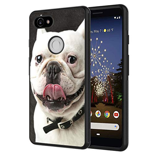 Google Pixel 2 Case,French Bulldog Anti-Scratch Shockproof Black Silicone Rubber TPU Protective Case Cover for Google Pixel 2 (2017 Release)
