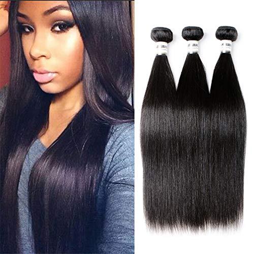 Brazilian Straight Hair 3 Bundles 100% Unprocessed Virgin Remy Hair Weave 100Gram/Bundle Natural Color Hair Extension (14 16 18)