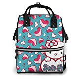 Mochila para pañales - Hello Love Kitty multifunción impermeable mochila de viaje maternidad pañales cambiantes bolsas