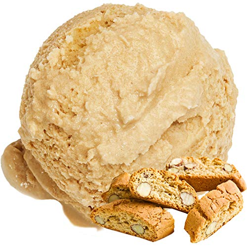 Cantuccini Geschmack Eispulver VEGAN - OHNE ZUCKER - LAKTOSEFREI - GLUTENFREI - FETTARM, auch für Diabetiker Milcheis Softeispulver Speiseeispulver Gino Gelati (Cantuccini, 1 kg)