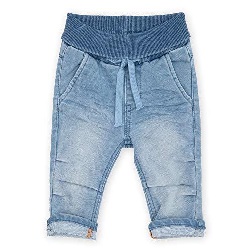 Sigikid Baby-Jungen Sweat Denim Klecks, Größe 062-098 Jeans, Hellblau, 98