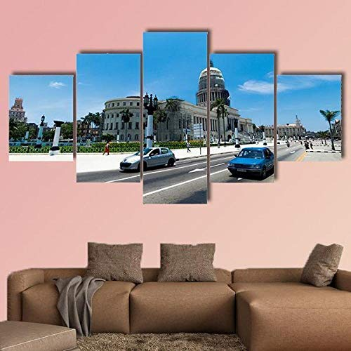 AAAKK Cuadro sobre Lienzo, Canvas Wall Art, Imprimir Impresiones de Lienzo, el capitolio en la Habana Cuba, con Marco Listo para Colgar para Sala de Estar Décor