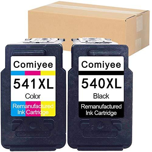 Comiyee 2 Cartucce d'inchiostro Rigenerata in sostituzione di PG-540 CL-541 XL Compatibile per PIXMA MX395 MG3550 MX475 MG3650 MG4250 MX535 MX525 MG3650S MX375 MX435 TS5150 TS5151 MG3150 MX455