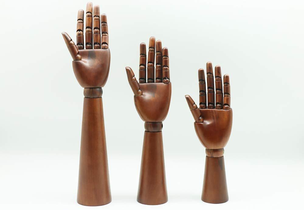 Modelo de Mano de Madera movible articulado articulado Dedos ...