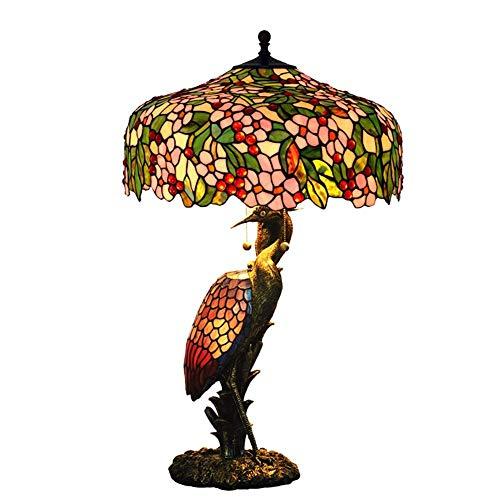 DIMPLEYA 20 Pulgadas Europa Café decoración luz Flor Tiffany lámpara de Mesa Sala de Estar