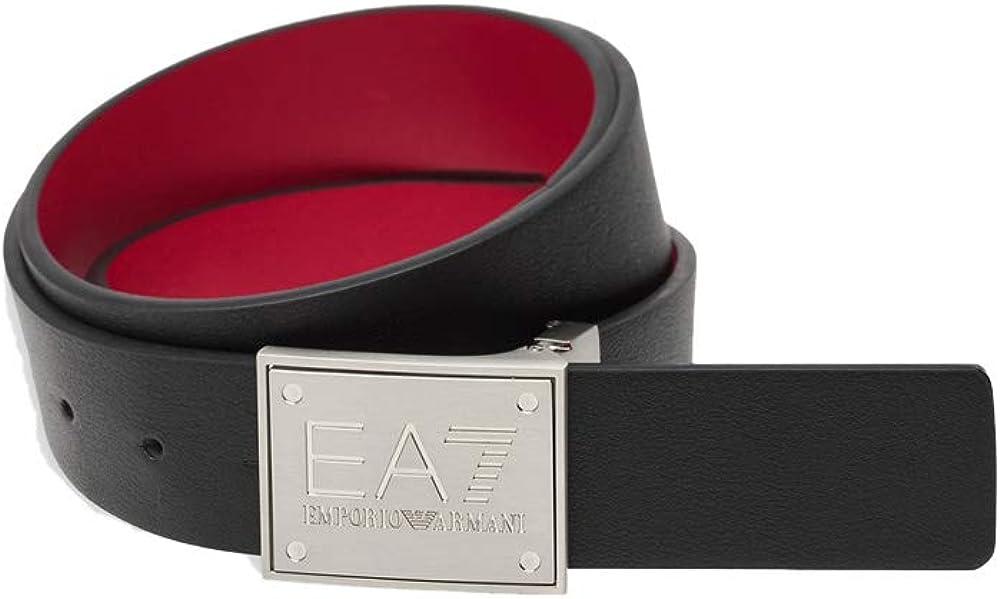 Emporio armani ea7  cintura uomo in pelle fibia in argento 245524 8A693 94820.
