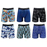 Warriors & Scholars | Mens Boxer Briefs 6 Set Multi Pack | Men's No Ride Up Underwear Boxers for...