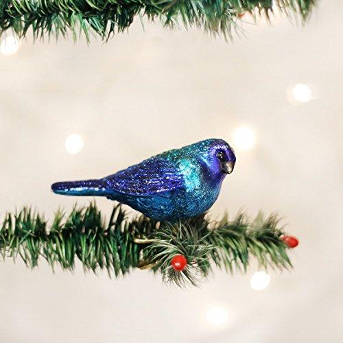 Indigo Bunting Christmas Ornament