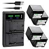 Kastar 4-Pack Battery and LTD2 USB Charger Replacement for Canon VIXIA HF R72 HFR72, VIXIA HF R80 HFR80, VIXIA HF R82 HFR82, VIXIA HF R300 HFR300, VIXIA HF R400 HFR400, VIXIA HF R500 HFR500