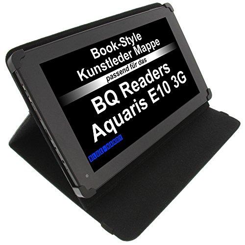 foto-kontor Tasche für BQ Readers Edison 3 Aquaris E10 Aquaris M10 BookStyle Tablettasche Schutz Hülle Schwarz