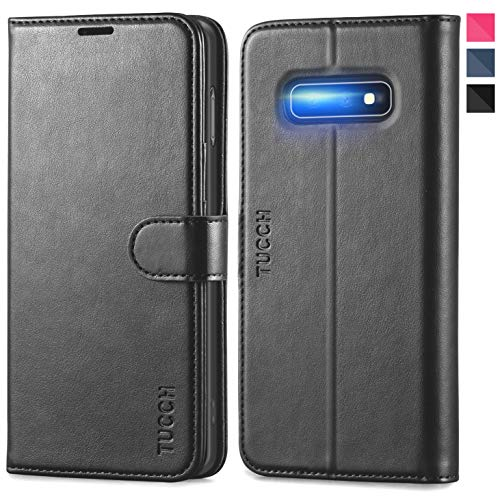 TUCCH Custodia Galaxy S10e, Custodia Portafoglio [RFID Blocking] S10e Pelle Sintetica TPU Antiurto, Slot Porta Carte e Protezione Completa Cover per Samsung...