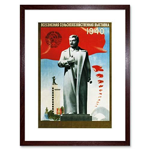 Wee Blue Coo Ad Agriculture Sowjetunion Stalin-Flagge, gerahmter Kunstdruck
