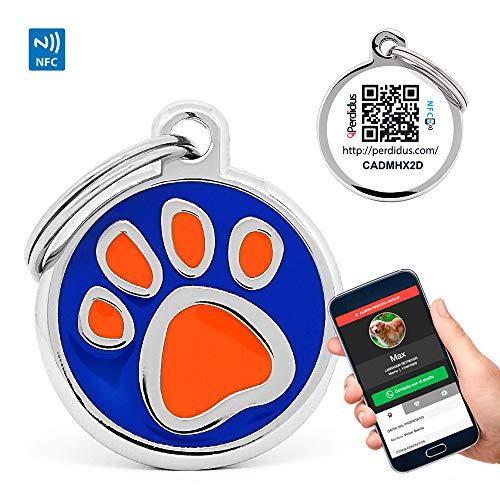 PERDIDUS Placa Identificativa Perros QR NFC. Sistema