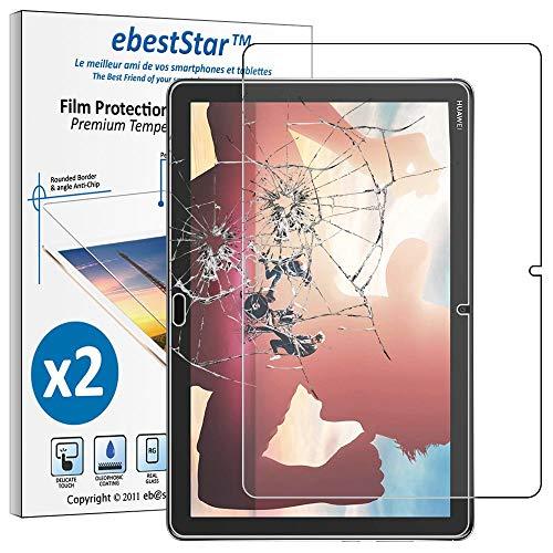 ebestStar - kompatibel mit Huawei MediaPad M5 Lite 10.1 Panzerglas [x2 Pack] Schutzfolie Glas Bildschirmschutz, Bildschirmschutzfolie 9H gehärtes Glas [M5 Lite 10.1: 243.4 x 162.2 x 7.7mm, 10.1'']