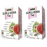 Vedda Slim 2 Té para Adelgazar, 40 Bolsitas, Fat Burner Tea Quemador de Grasa para Pérdida de Peso, Té Verde, Sen y Ginseng, 100g (2 x 50g / paquet)