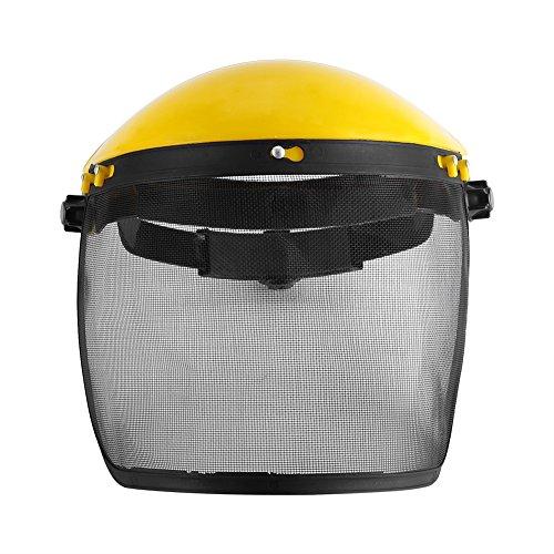 Josopa Helm Mütze Vollgesichtsschutz Sicherheitshelm mit Mesh-Visier für Trimmer und Brushcutting