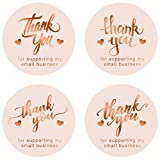800 Pieces Thank You for Supporting My Small Business Stickers, 4 Designs, 1.5 Inch Round Label Stickers Thank You Stickers for Business, Online Retailers, Boutiques, Envelope & Gifts Bags