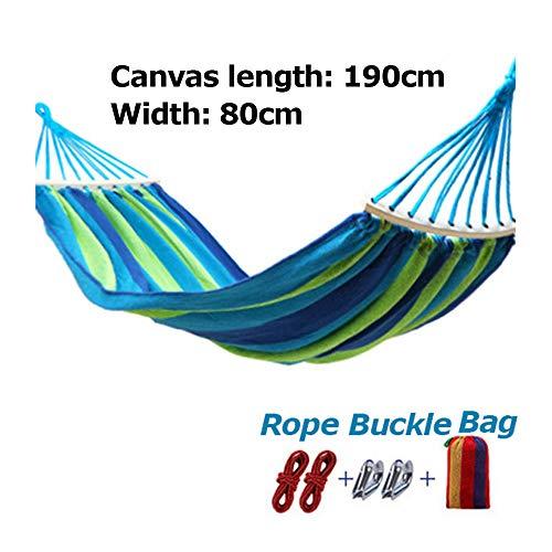 Buiten canvas reishangmatten met canvas tas, ultralichte campinghangmat, draagbaar strandschommelbed, hangend hangend binnenbed voor buiten,80cm
