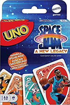 UNO Space Jam  A New Legacy Themed Card Game Featuring 112 Cards with Movie Graphics Kid Movie & Sports Fan Gift Ages 7 Years & Older.
