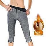 Tutium Damen Slim Sweat Pants Hot Thermo Neopren Body-Sauna Hose für Gewicht Loss Schweiß Sauna...