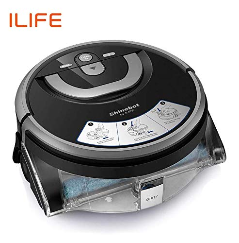ILIFE W400 Floor Washing Robot Voice Assistance Navigation Large Water Tank Kitchen Cleaning Planned Cleaning Route